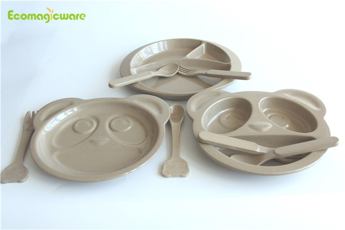 OEM Biodegradable Plant Fiber Kids Tableware