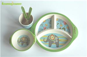 Kids Biodegradable Bamboo Fiber Tableware