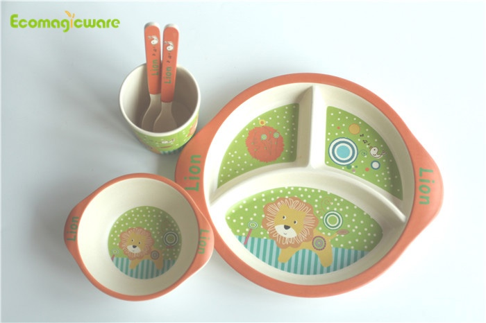 Biodegradable Bamboo Fiber Kids Tableware