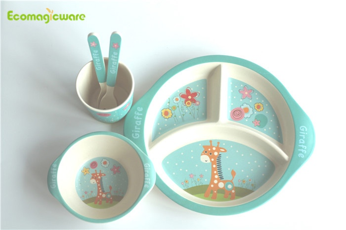 Biodegradable Bamboo Fiber Kids Dinnerware