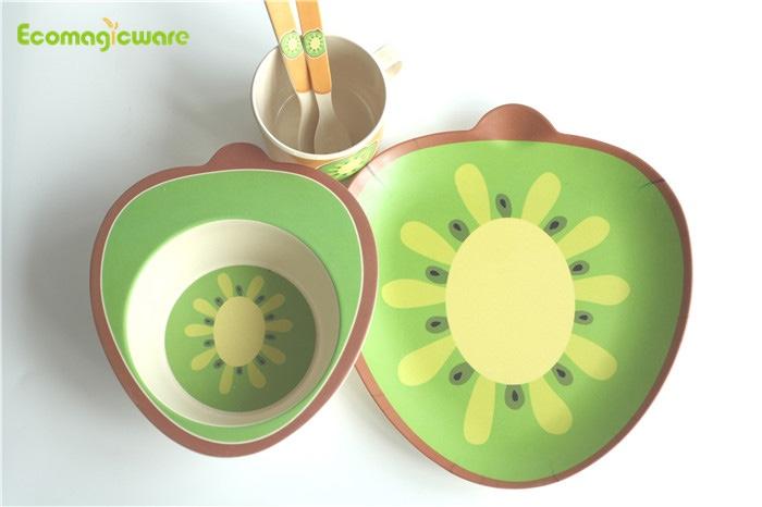 Bamboo Fiber Kids Tableware Set