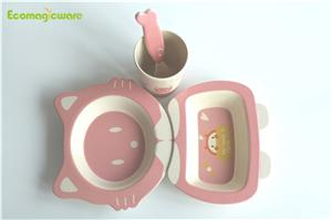 Plant Fiber Tableware For Kids