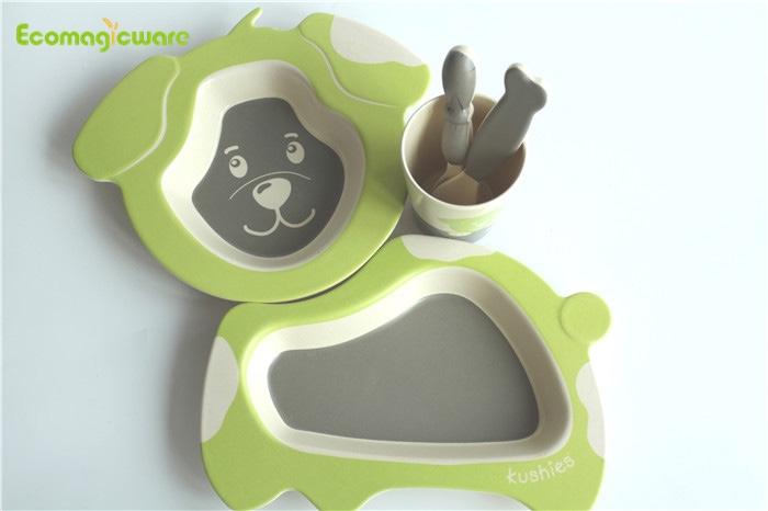 Biodegradable plant Fiber Kids Tableware