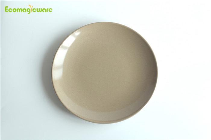 Rice Husk Round Plate