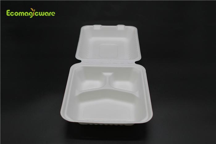 Eco Friendly Disposable 3 Compartment Box