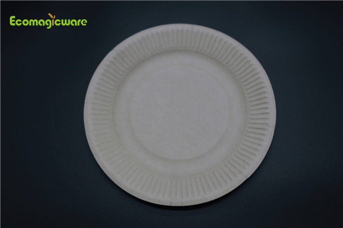 Eco Friendly Disposable 7 Inch Round Plate