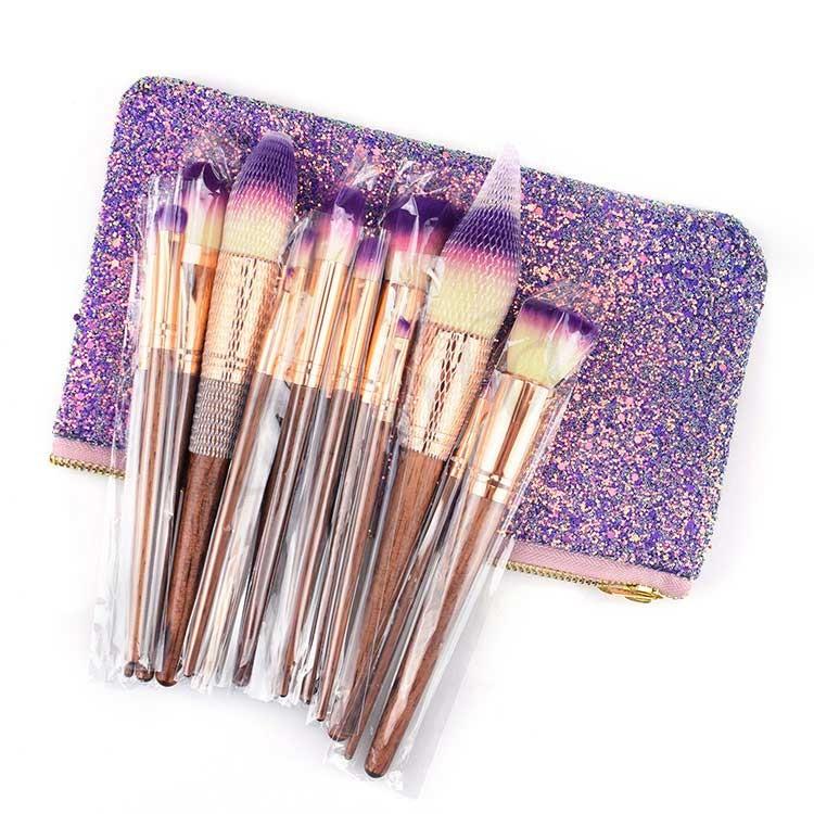 2019 Professional Glitter Makeup Brush Set Manufacturers, 2019 Professional Glitter Makeup Brush Set Factory, Supply 2019 Professional Glitter Makeup Brush Set