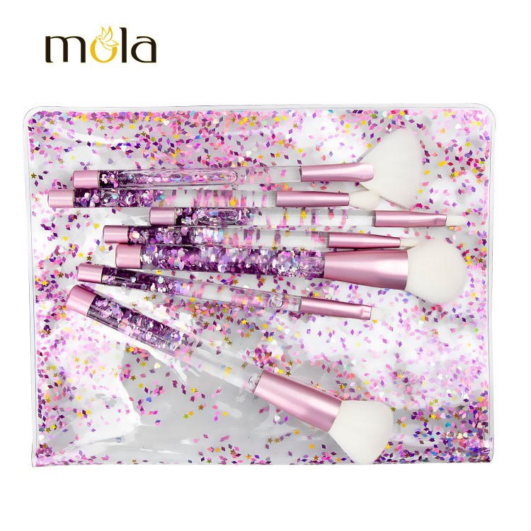 Rainbow Glitter Brush For Makeup