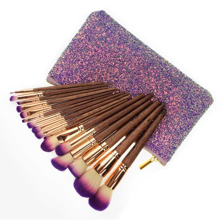 Glitter makeup brush