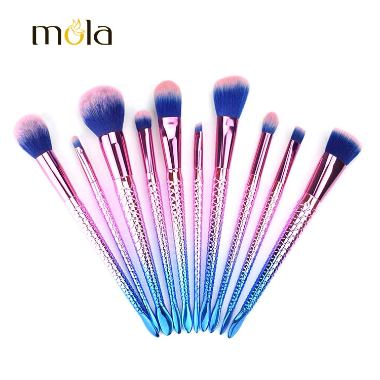 Unique Mermaid Makeup Brush Set