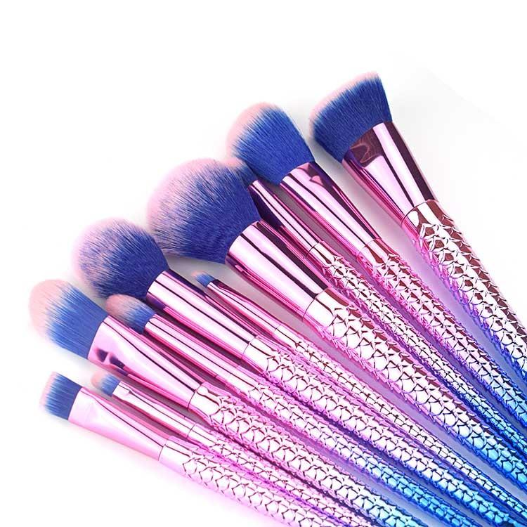 Unique Mermaid Makeup Brush Set Manufacturers, Unique Mermaid Makeup Brush Set Factory, Supply Unique Mermaid Makeup Brush Set
