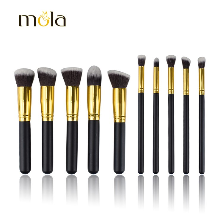 10 Pcs Kabuki Brush Cheap Cosmetics Makeup Brush Sets