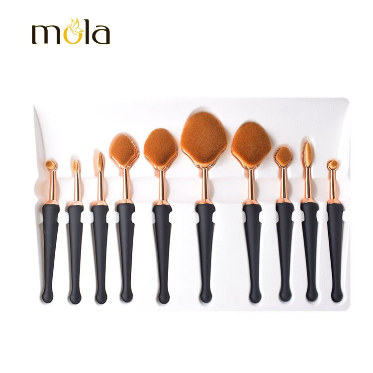 High Quality 10 Pcs Cosmetics Makeup Toothbrush Set