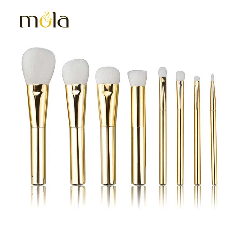 8 Pcs Natural Hair Diamond Makeup Brush For Travel