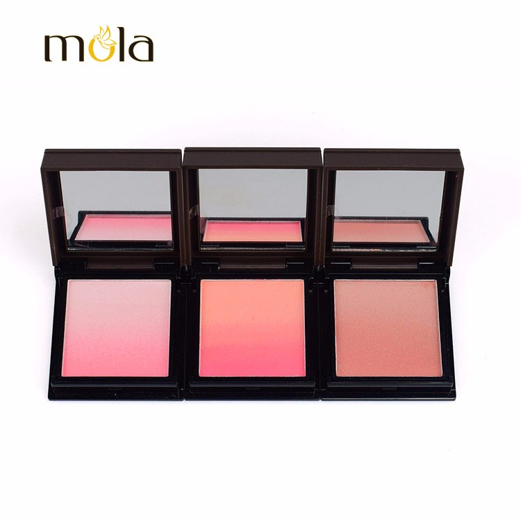 3 Color Makeup Blush Pink On Natural Private Label Blusher
