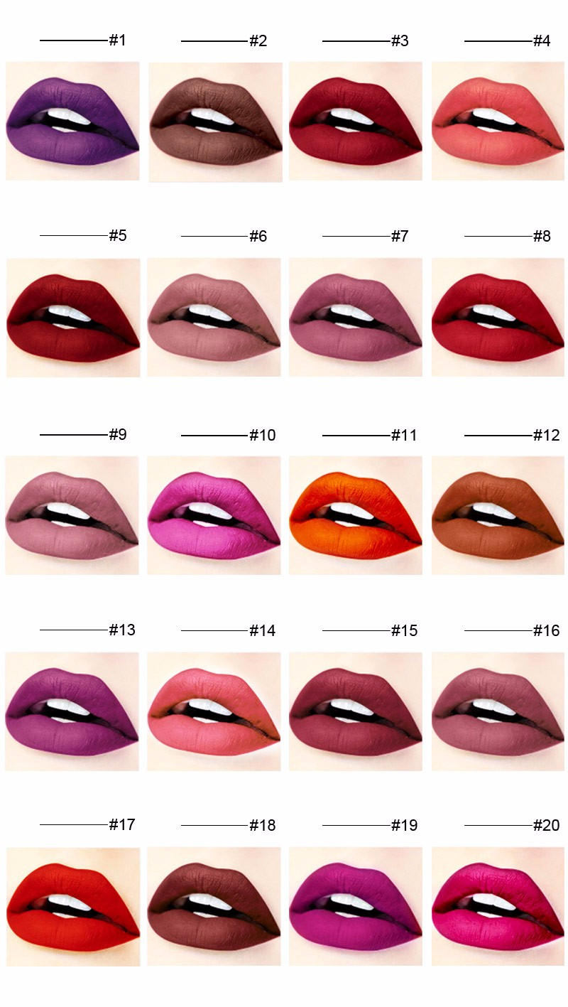 20 Colors Waterproof Velvet Matte Lipgloss Manufacturers, 20 Colors Waterproof Velvet Matte Lipgloss Factory, Supply 20 Colors Waterproof Velvet Matte Lipgloss