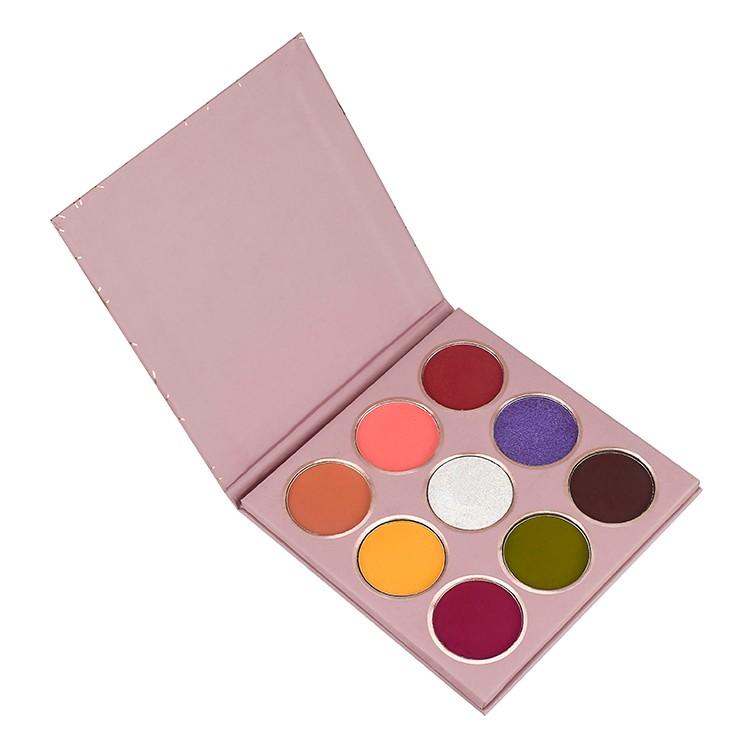 Palette de fards à paupières de 9 couleurs privées avec étiquette privée