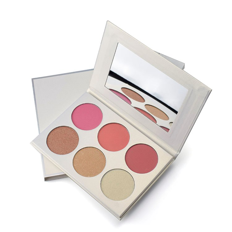 6 Color Blush And Bronzer Private Label Blush Palette