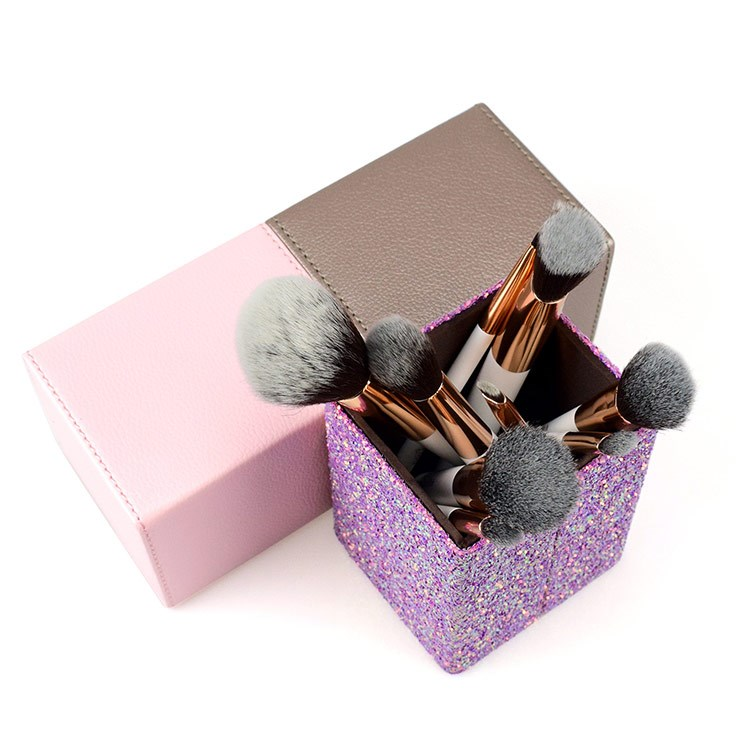 Private Label Bling 2 In 1 Magnetic Makeup Brush Holder