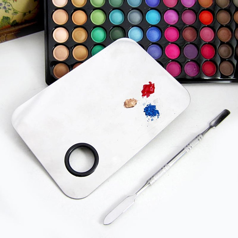 Stainless Steel Color Mixing Palette For Makeup Manufacturers, Stainless Steel Color Mixing Palette For Makeup Factory, Supply Stainless Steel Color Mixing Palette For Makeup