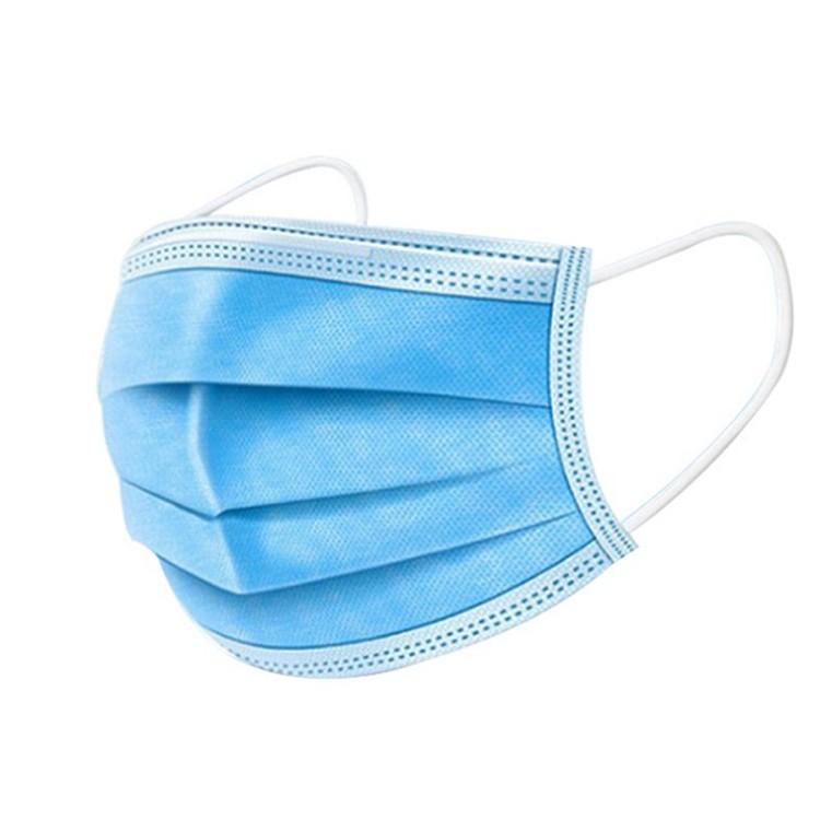 จัดส่งที่รวดเร็วหน้ากากสำรองใบหน้า 3 ชั้น Non Woven ครอบหูหน้ากากป้องกัน
