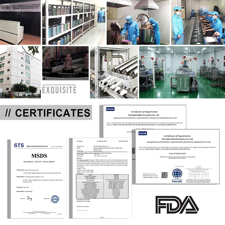 Professional cosmetics manufacturer provided MSDS , FDA approved