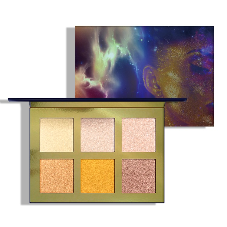 Paleta de iluminadores Vegan Blendable de 6 colores