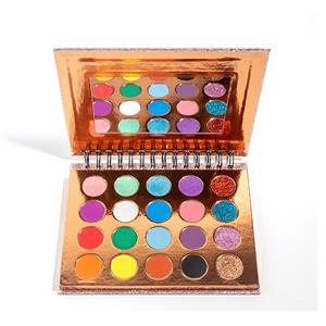 Metallic Sweatproof Eyeshadow Palette With Coil