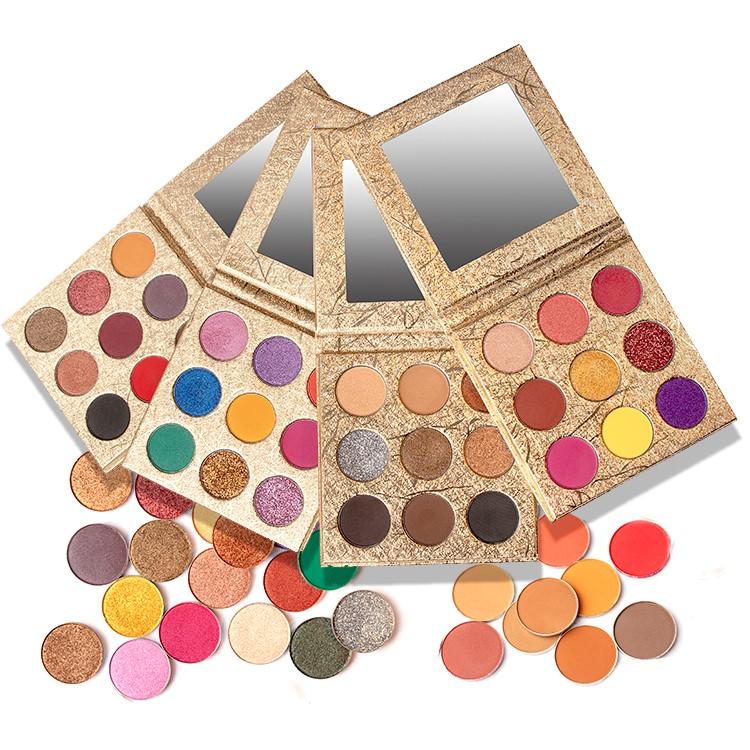 Zengin Renk Saf Organik Göz Farı Paleti