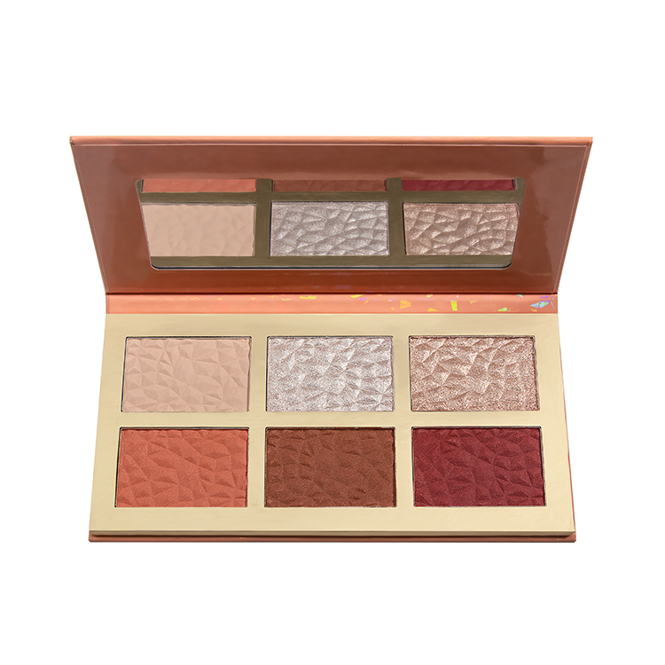 coral glow highlighter palette