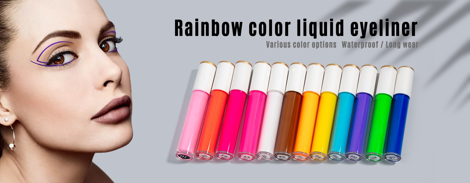 Rainbow color liquid eyeliner