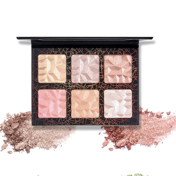 powdered highligher palette
