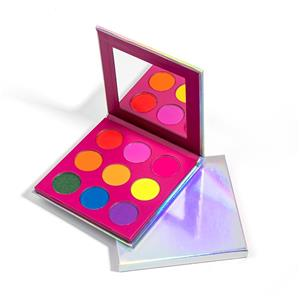 Low MOQ Holographic Pigmented Eyeshadow Palette