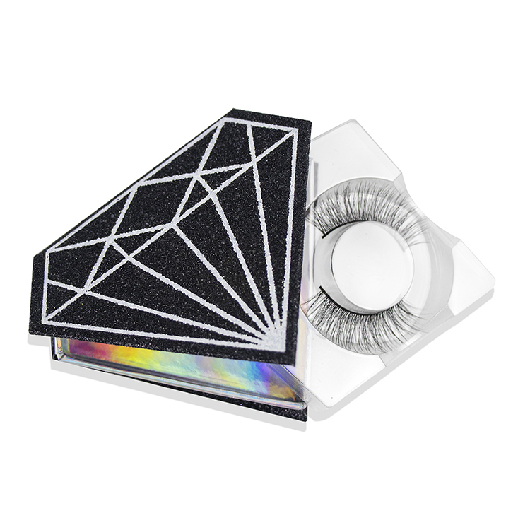 Cheap Natural Wholesale Private Label False Eye Lash With Diamond Packaging