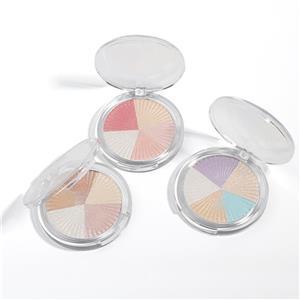 5 màu Shimmer Glow Nhãn hiệu riêng Pressed Makeup Highlighter Palette