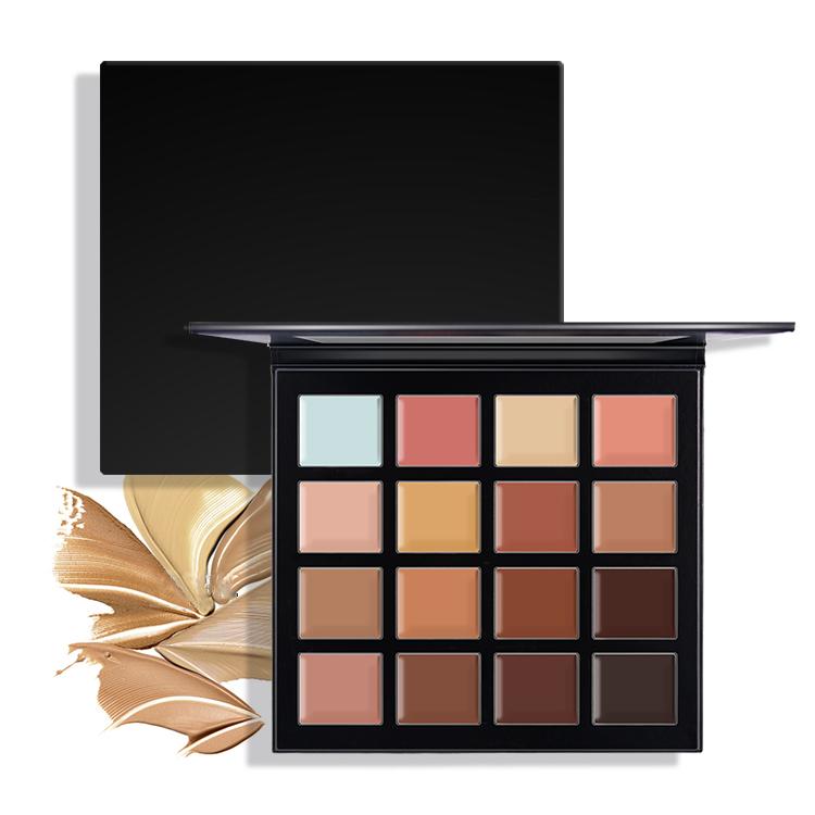 16 Colors Nude Cream Makeup Private Label Waterproof Concealer Palette