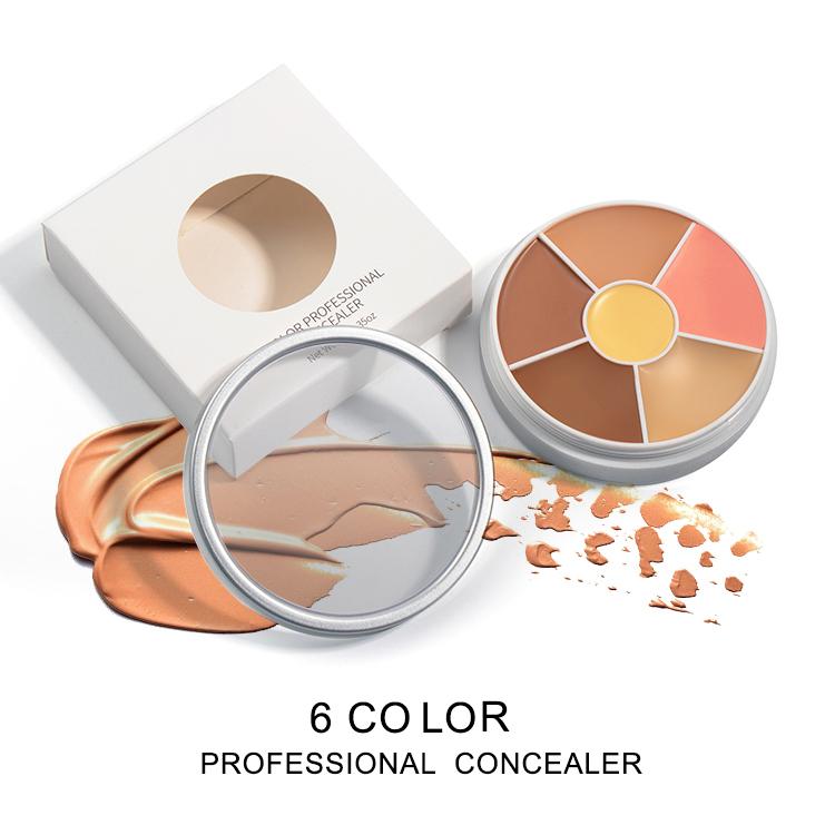 Low Moq New Vegan Professional Makeup Concealer Palette Private Label