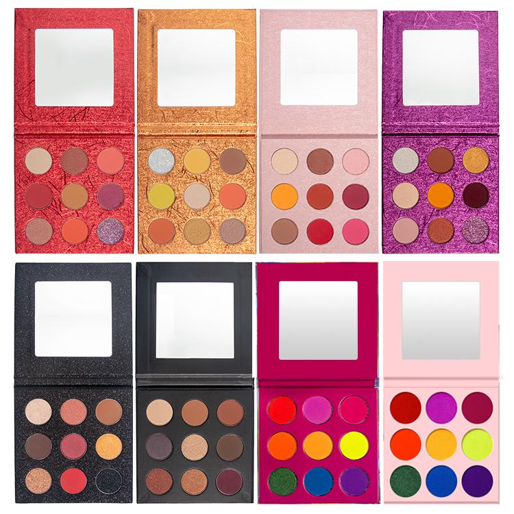DIY 9 color eyeshadow palette
