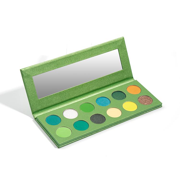 12 Holes Green Color Waterproof Cruelty Free Diy Eyeshadow Palette