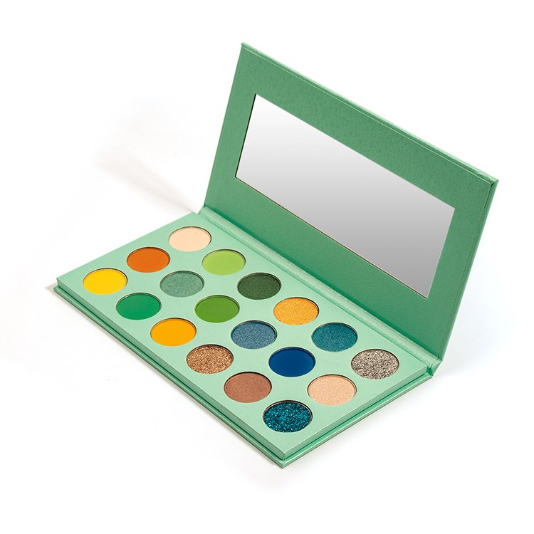 Make Your Own Brand 18 Pans Mint Green Natural Eyeshadow Palette