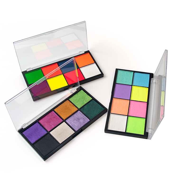 High Quality Professional Water Activated UV Face Eyeliner Palette