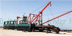 Cutter Suction Dredger In Sea For Port Dredging
