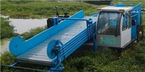 Water Plants Harvester In River And Lakes