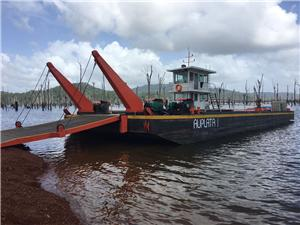Logistic Barge Manufactured for French Guiana Customers