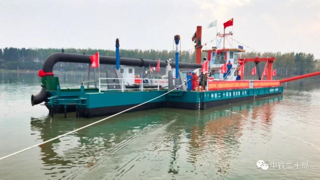 24 Inch Cutter Suction Dredger Launching for China Railway Bureau