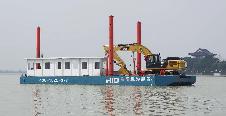 excavator barge