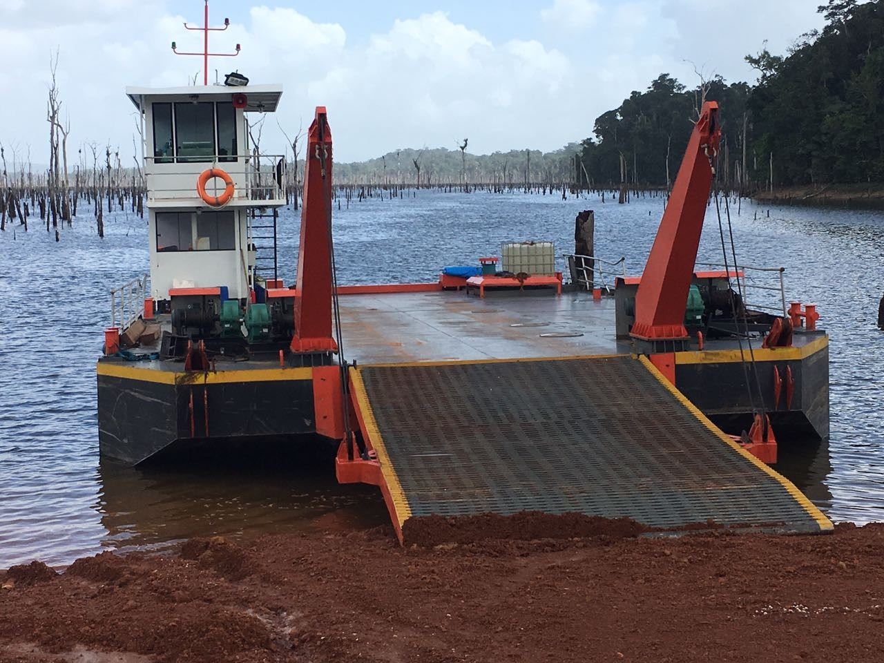 Transportation Cargo Barge