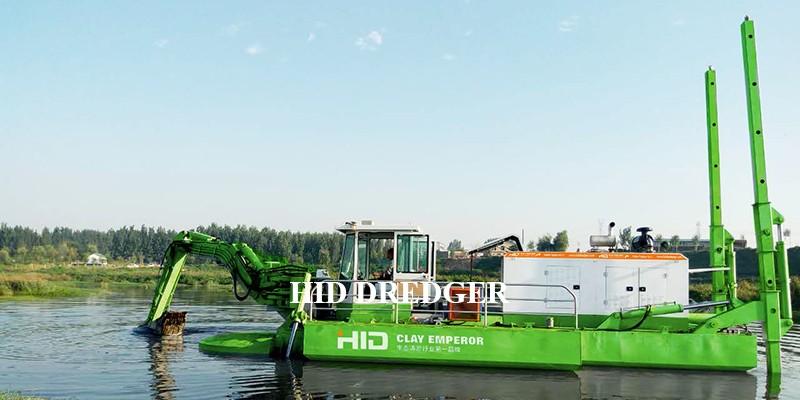 Dragă amfibie pentru controlul inundațiilor