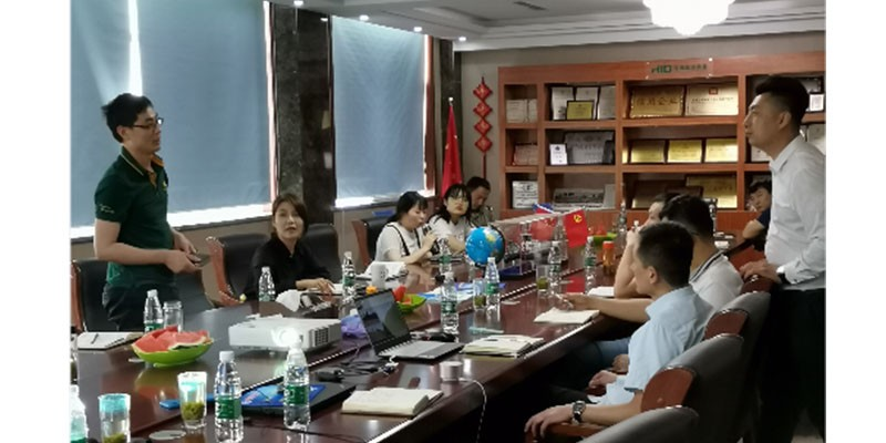 HID Dredger Company Holds Sales Training