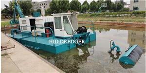 Multi function small capacity suction dredger for urban river cleaning